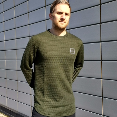 King Apparel Legacy Quilted Crewsweat Olive