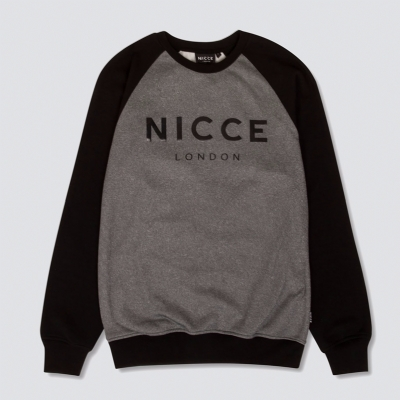 Nicce Linear Tech SweatShirt Grey