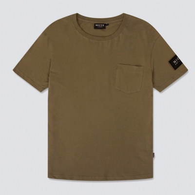 Nicce Patch Tee Shirt Khaki