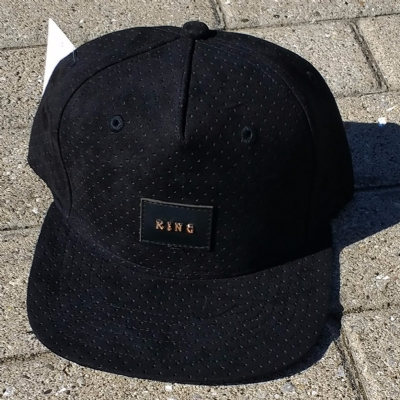 King Apparel Aesthetic Snapback Pinch Panel Black Suede