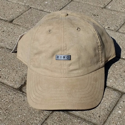 King Apparel Luxe Noir Curved Peak Camel Suede