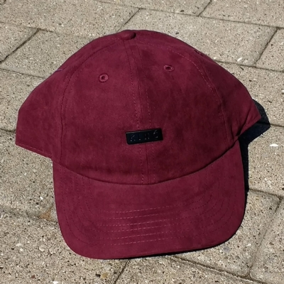 King Apparel Luxe Noir Curved Peak Burgundy Suede