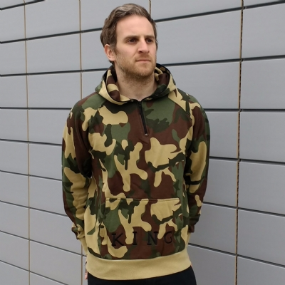 King Apparel Staple Half Zip Hoodie Camo
