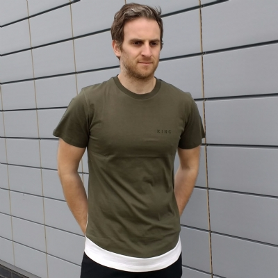 King Apparel Stamp Vent Tee Shirt Olive