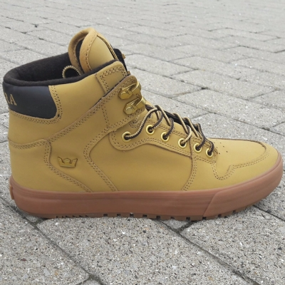 Supra Vaider CW Amber Gold-Light Gum Trainers