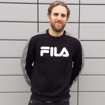 FILA Black Line Toby Crew Neck Sweat Black