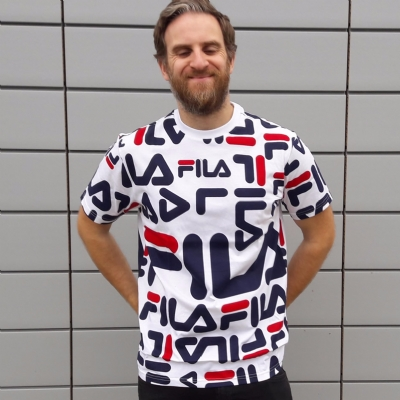 Fila Black Line Logan Graphic Tee White
