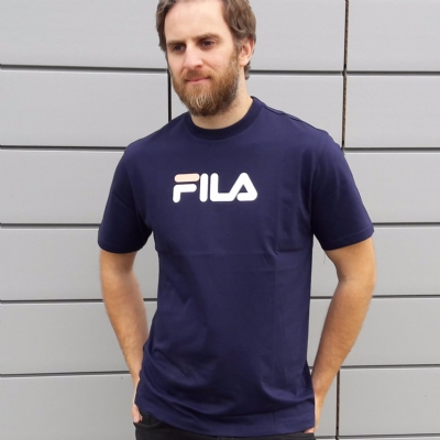 Fila Black Line Noah Graphic Tee Shirt Peacoat