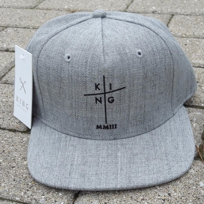 King Apparel Pinch Panel Snapback Cap Stone