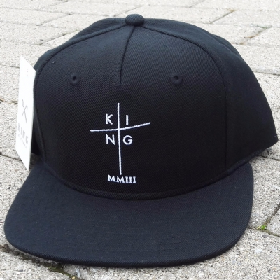 King Apparel Pinch Panel Snapback Black