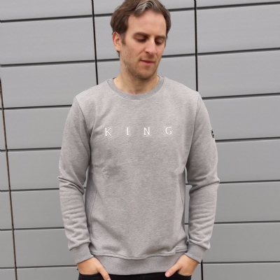 King Apparel Bethnal Sweatshirt Stone Grey