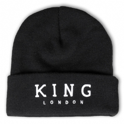 King Apparel Stepney Beanie Hat Black