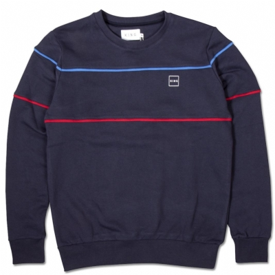 King Apparel Leamouth SweatShirt Ink Blue