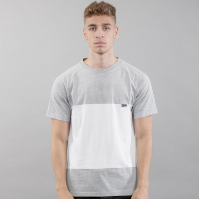 King Apparel Oban Tee Shirt Stone and white