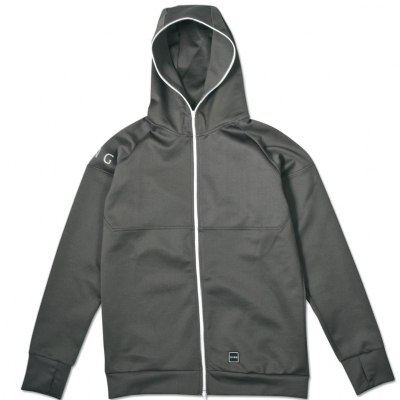 King Apparel Leyton Tech Full Zip Hoodie Fern Green