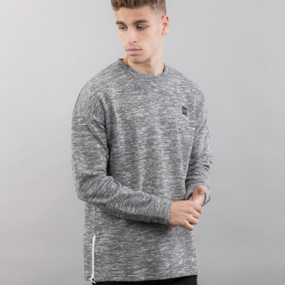 King Apparel Drop Shoulder Crewsweat Fog