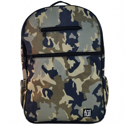 FUL Accra Green Camo Laptop Backpack