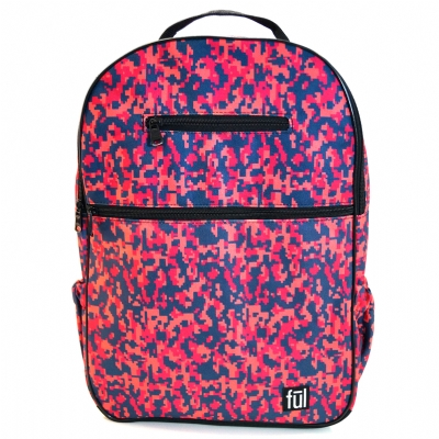 FUL Accra Digital Pink Camo Laptop Backpack