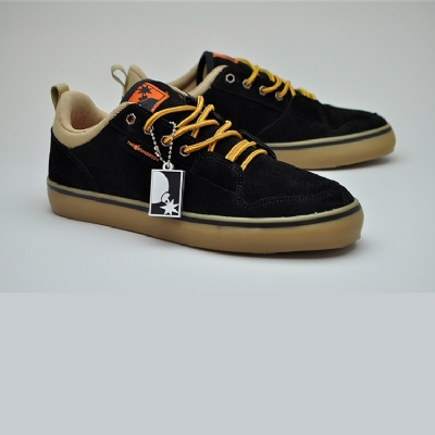 The Hundreds Riley Low Black/Burnt Orange Trainers