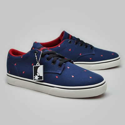 The Hundreds Johnson Low Navy/Red Mens Trainers